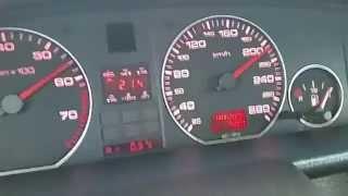 Разгон Audi 100 c4 2.3E AAR 0-210 груженый на 17 тапках!