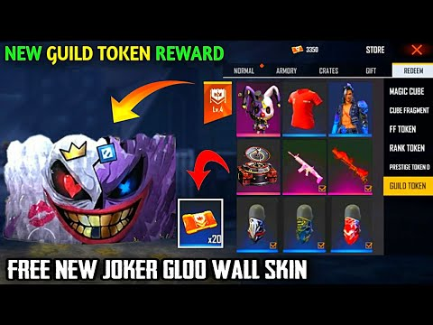 free fire upcoming new event new guild token rewards free new gloo wall skin new update