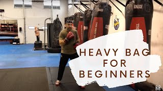 Your very first heavy bag lesson. Punching bag for beginners.