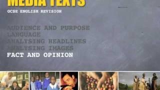 Media Texts - Fact & Opinion