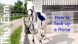 How to Tack up a Horse - English | Gopro | This Esme