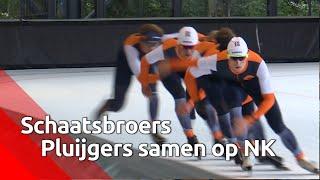 Schaatsbroers Pluijgers gaan het Sven Kramer moeilijk maken op NK clubs