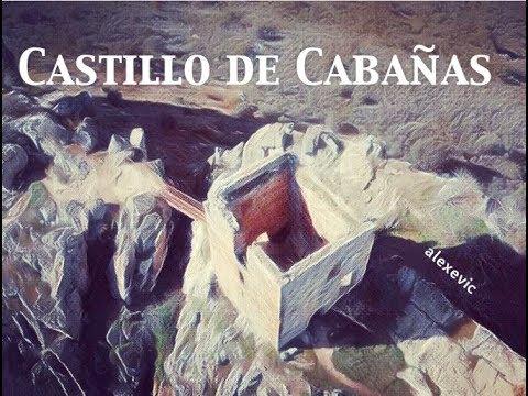 Cabañas del Castillo, su castillo, Villuercas, drone video