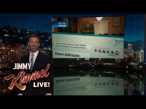 Jimmy Kimmel Talks to Brooklyn Truck Driver/Lottery Winner