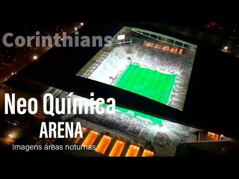 Helicóptero sobrevoa a Arena Corinthians em dia de jogo do Timão