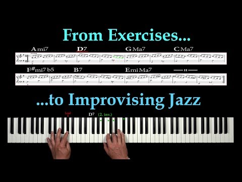 How to improvise an EASY JAZZ SOLO with simple ARPEGGIOS