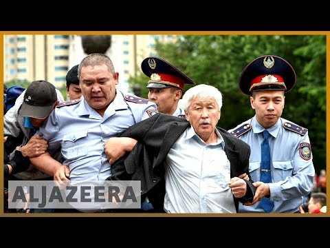 Kazakhstan Police And Protesters Clash After Poll