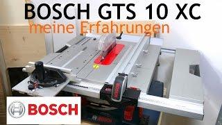 Bosch GTS 10 XC Professional Review Deutschgerman