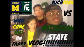THE COLLEGE FOOTBALL RIVALRY OF THE HOUSEHOLD!!!!!! MICHIGAN VS MICHIGAN STATE VLOG!!!!!!