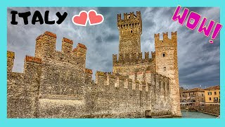 ITALY: Stunning Town Of Sirmione 🏘️ On Lake Garda & Its 🏰 Medieval Castle