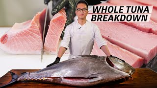 How a Master Sushi Chef Butchers a 250 Pound Bluefin Tuna — Omakase