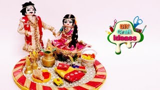 Best Out Of Waste Bottle   Wedding Plate Decoration    Amazing Indian Doll Making   Diy Craft Ideas