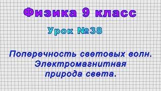 Физика 9 класс Урок 38 - Поперечность световых волн. Электромагнитная природа света.