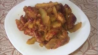 Картофель по-французски на сковороде/Блюда из мяса/Быстро и очень вкусно!