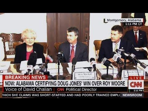 Alabama Certifies Doug Jones Win Over Roy Moore