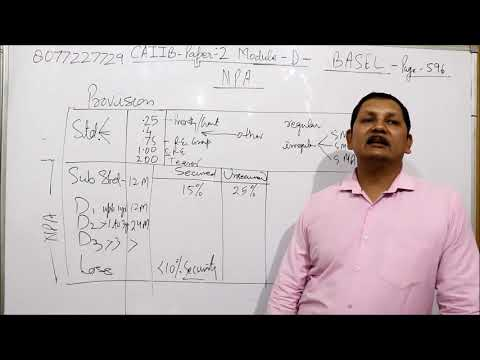CAIIB NPA provision and Numerical Part 1 By Kamal krishna - Kamal