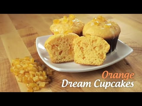 Candied Orange Peel Dream Cupcakes