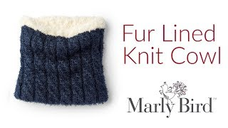 How To Knit A Fur Lined Knit Cowl | Free Knitting Pattern