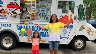 Deema Play ice cream truck in real life surprise!
