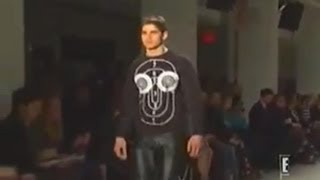Male models in leather pants