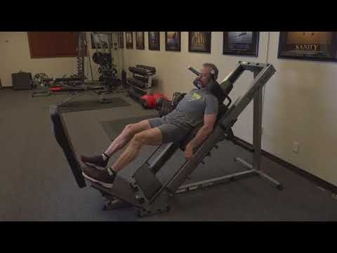 Fitness Training   How to Use the Body Solid Hack Squat Leg Press
