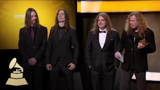 Megadeth Wins Best Metal Performance | Acceptance Speech | 59th GRAMMYs