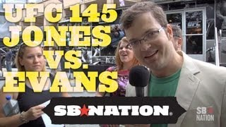 UFC 145 Jones vs. Evans: Spencer Hall Hits The Streets!! thumbnail