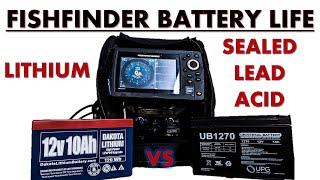 Fishfinder Battery Life: Lithium vs Sealed Lead Acid
