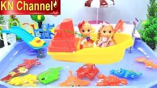 Đồ chơi Câu Cá trong HỒ BƠI BÚP BÊ Fishing toys game & Baby Doll KN Channel