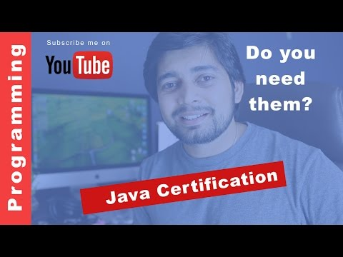 Java Certification - Do you really need them ? - YouTube