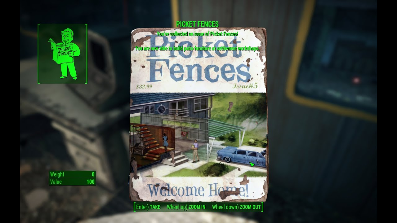 Picket Fences Magazine Locations In Fallout 4 Game Maps Com