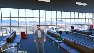 How To Get Inside of The AIRPORT In GTA 5! (GTA 5 Funny Moments) (GTA 5 Mods)
