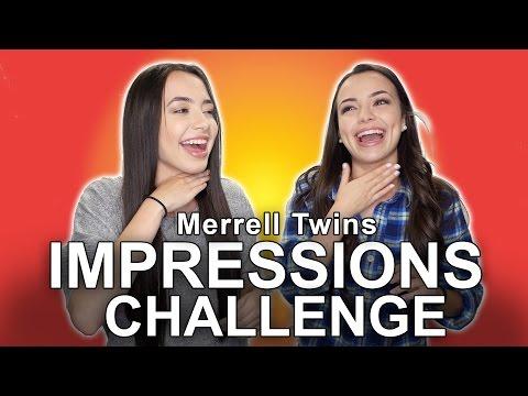 Impressions Challenge - Merrell Twins