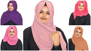 5 Easy Hijab Styles Using 5 Different Hijabs | Everyday Hijab Tutorial | Easy Hijab Styles Ep#014