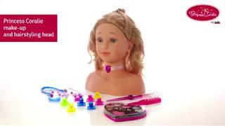 Lėlės galva 33 cm šukuosenoms Princess Coralie   Make-Up and Hairstyling Head   Klein 5240
