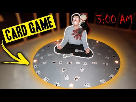 DO NOT PLAY THE CARD GAME RITUAL AT 3 AM!!! (WE SUMMON A DEMON!)