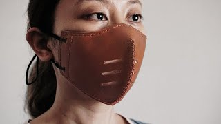 Making A Leather Face Mask|Free PDF Pattern