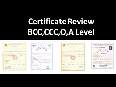 Nielit Doeacc Bcc ,CCC ,O Level, A Level Certificate Review ...