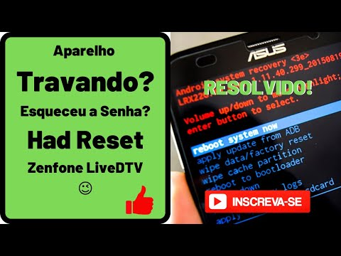 Hard Reset Asus Live DTV passo a passo | GARCIAINFOR
