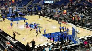 Osceola school of performing arts halftime dance at Orlando Magic Game