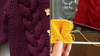 How to Knit Easy Braid Cable For Romper , Sweater, Shawl , Cardigan , Cap With Written Instructions