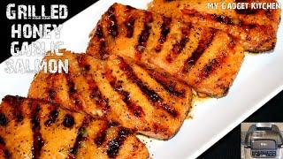 The BEST & Easiest Grilled Honey Garlic Salmon   Ninja Foodi Grill   My Gadget Kitchen #221