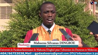 UNIVERSITE DE PARAKOU: Soutenance de Mahuena Dingboé pour l'obtention du Doctorat en Médecine