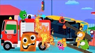 Мультики для детей. Маленький Пожарный Би Мультфильм про машинки 2019