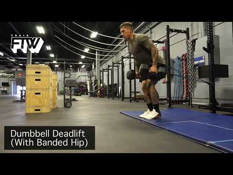 Dumbbell Deadlift With Banded Hip