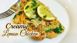 🍋Simple & Easy Creamy Lemon Chicken Cuisine | ThymeWithApril