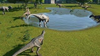 2 T-Rex VS 2 I-Rex VS 2 I-Raptors VS 2 Spinosaurus VS 2 Giganotosaurus VS 2 Allosaurus - JWE