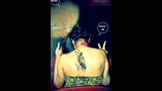 Creative Girls Neck Tattoo