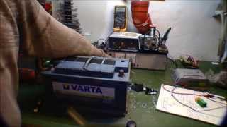 Drilling holes in a sealed lead acid car battery - 080