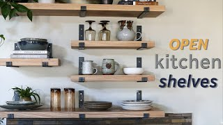 How To Make Open Kitchen Shelves // DIY Metal Shelving Brackets (2020)